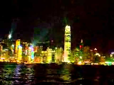 Hong kong daily Laser and Light show