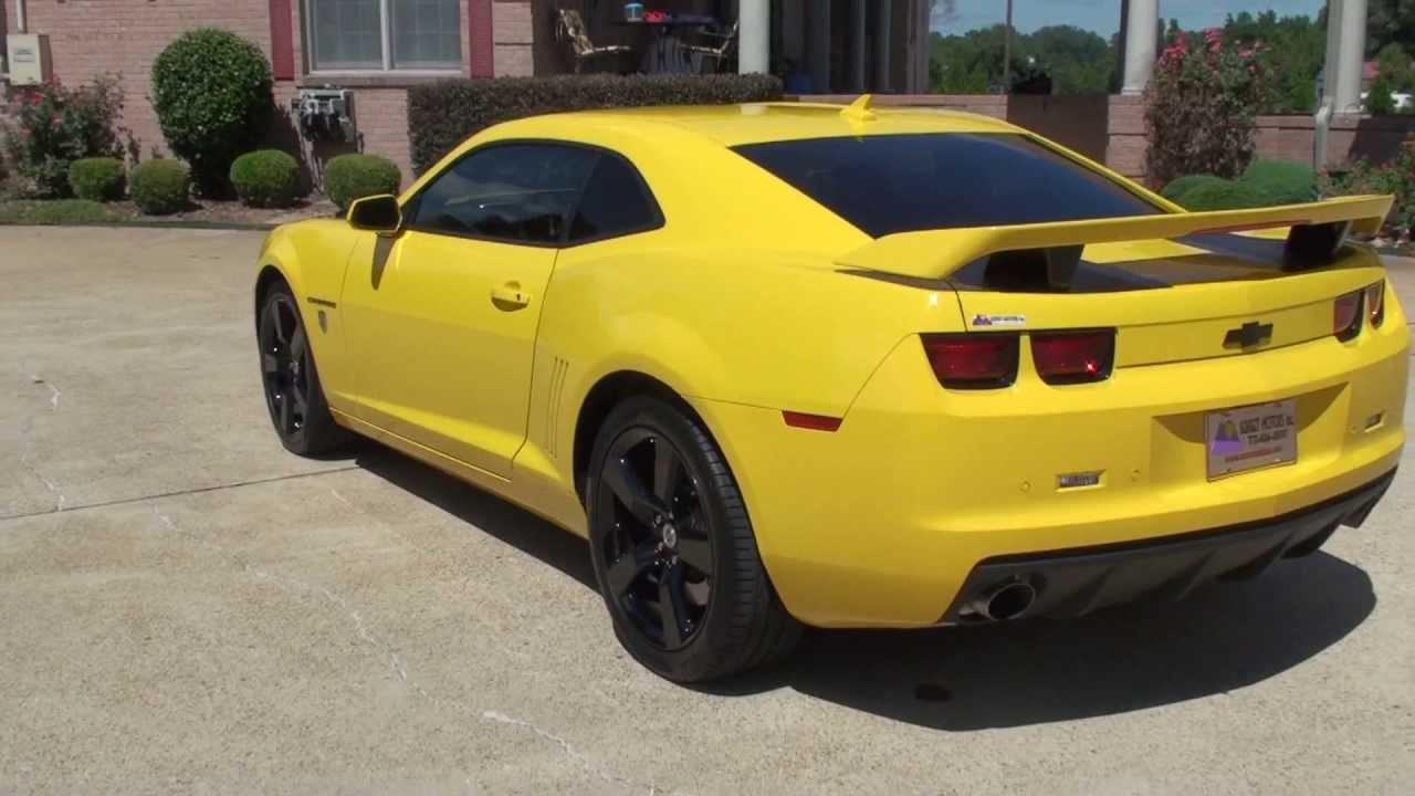HD VIDEO 2012 CHEVROLET CAMARO TRANSFORMER SS YELLOW FOR