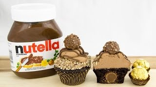 Ferrero Rocher & Nutella Cupcakes from Cookies Cupcakes and Cardio