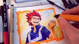 Speed Drawing My Hero Academia Eijiro Kirishima In My Sketchbook - Anime Style