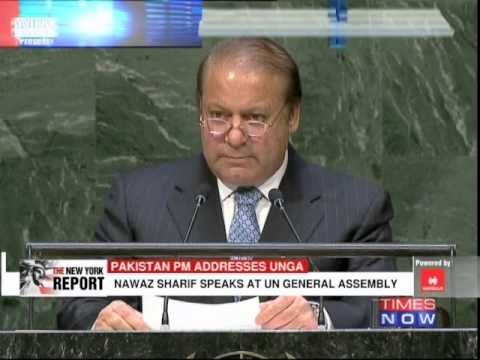 Pakistan PM Nawaz Sharif on Kashmir