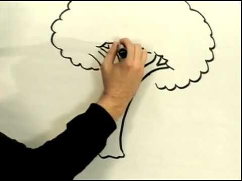YouTube   تعليم الرسم   كيف ترسم شجرة     3