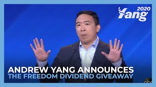 Andrew Yang Announces the Freedom Dividend Giveaway #1kGiveaway