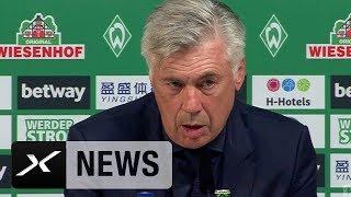 Ancelotti übers Werder-Match, Müller und Neuer | SV Werder Bremen - FC Bayern München 0:2