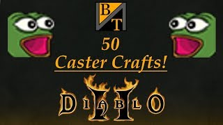 Crafting 50 Caster Amulets! (Diablo 2)