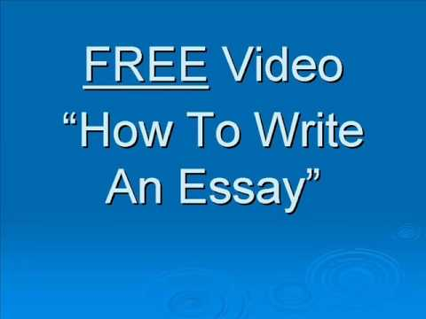 youtube english essay writing