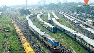 Kishoreganj Express Train Leaving Kamalapur Hauled By Korean Hyundai Rotem Locomotive