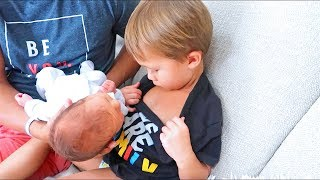 Brother Wants To Breastfeed Baby! (So Funny)