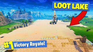 WE COVERED THE *ENTIRE* LOOT LAKE In Fortnite Battle Royale!