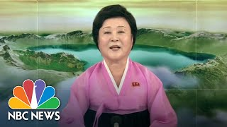 North Korean TV Hails President Donald Trump's Decision To Ax War Games | NBC News