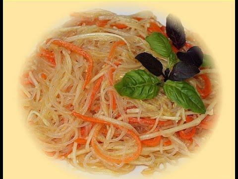 Морковь По-Корейски с рисовой лапшой, Очень Просто и Вкусно