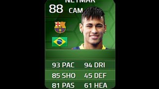 FIFA 14 iMOTM NEYMAR 88 Player Review & In Game Stats Ultimate Team