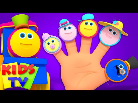 Bob The Train | Finger Family Nursery Rhymes | Song For Children | Kids Bob the train