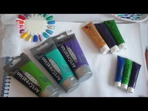 pintura acrilica para uñas (economica) - YouTube