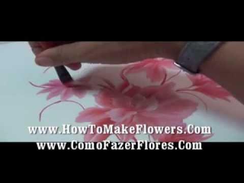Como pintar flores en la pared y en donde quieras muy - Aprender a pintar en madera ...