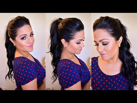 High Ponytail Hair Tutorial using clip-in hair extensions - LUXURY FOR PRINCESS