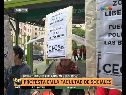 Estudiantes de Sociales reclaman seguridad - Telefe Noticias