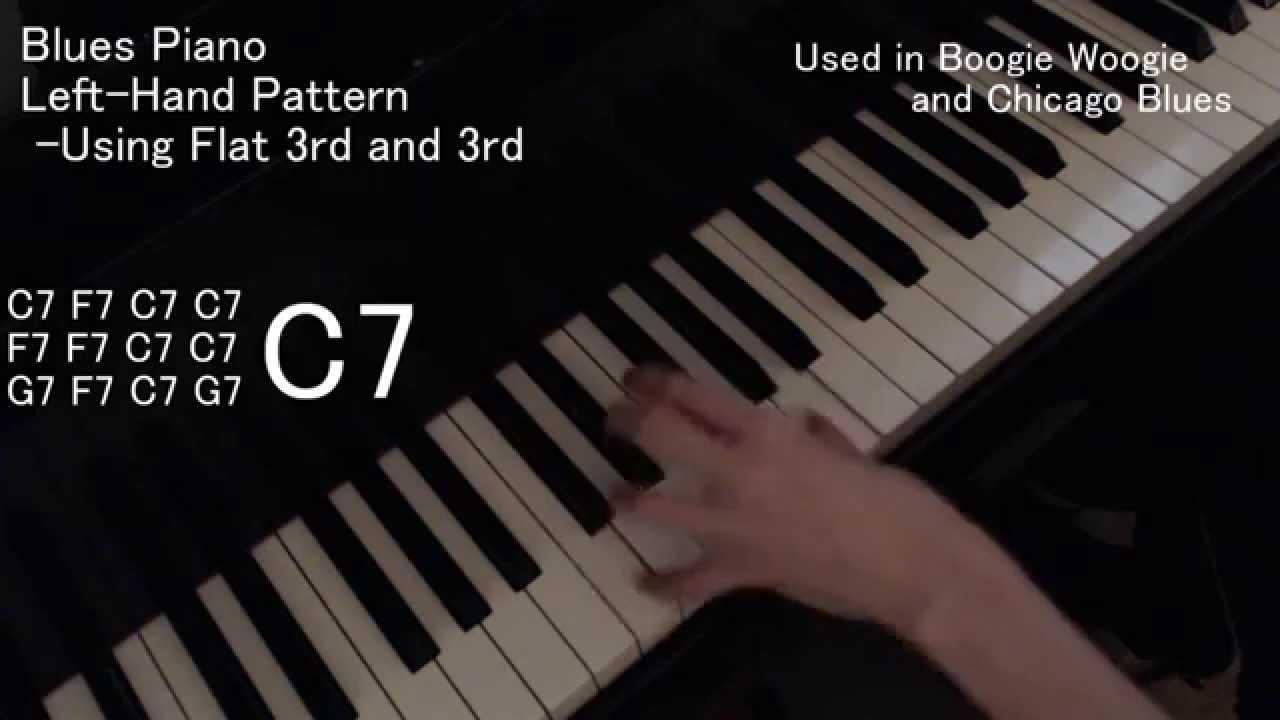 B Flat Chord Piano Left Hand [Blues Piano Lesson] L...