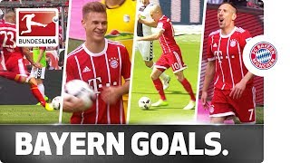 Fantastic Four - Robben, Vidal, Ribery and Kimmich Kick-Start Bayern's Title Party