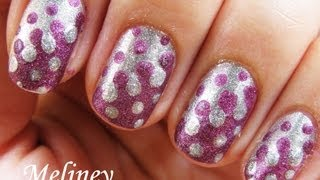 Easy Nail Art Tutorial - Retro Dots Inverse Merging Drip Nails Design for Short Nails Interlocking