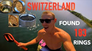 I Found OVER 183 Gold Silver Wedding Rings!! Metal Detecting Underwater Treasure Search for Owners