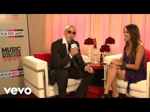Pitbull 2010 Backstage Interview American Music Awards
