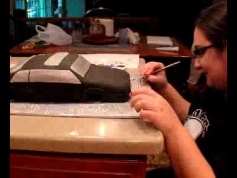 how to make a fondant car cake youtube. Black Bedroom Furniture Sets. Home Design Ideas