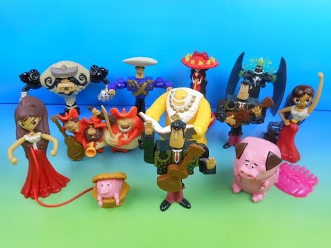 2014 THE BOOK OF LIFE SET OF 11 McDONALD'S HAPPY MEAL MOVIE TOY'S VIDEO REVIEW (U.K. IMPORT)