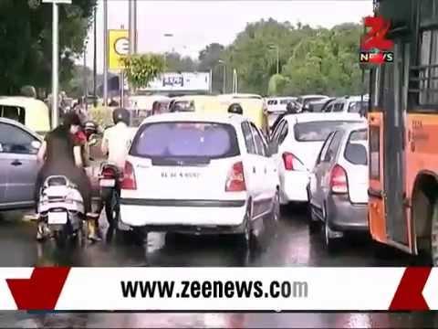 Waterlogging, traffic jams in Delhi after rains