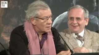 Ian McKellen Interview - Dwarf Filming Fun - The Hobbit An Unexpected Journey