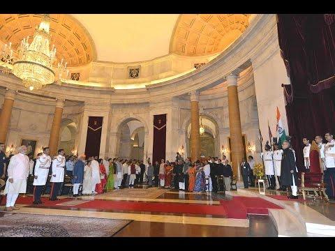 SlideShow-Hon'ble-RastrapathiJi -PRESENTS BHARAT RATNA AND PADMA AWARDS-PMOindiaJiVisitsEdweepNews