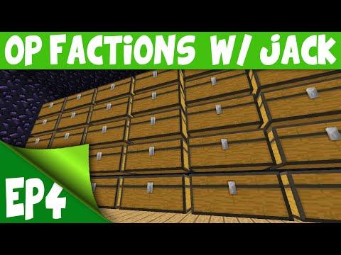 Minecraft OP Factions Server EP4 w Jack UNCLAIMED EASY RAID Minecraft OP Factions Lets Play