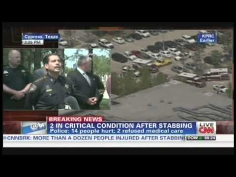 Lone Star College Stabbing Press Conference Cypress Texas (April 9, 2013)