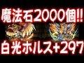 魔法石2000個以上使ってホルス入手!→白光炎隼神ホルスLv99+297になるまでの軌跡【パズドラ】