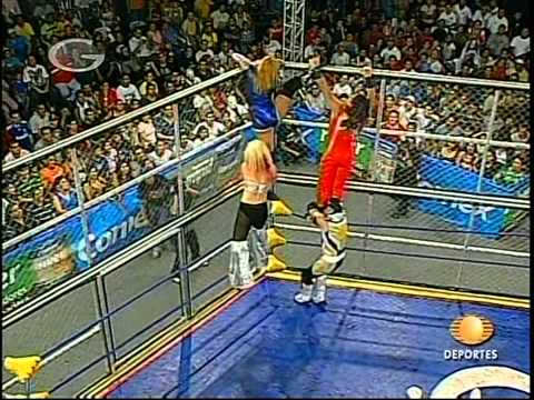 AAA: Fabi Apache, Aero Star vs. Sexy Star, Billy Boy, 2009/08/21 [cage, mask/hair]