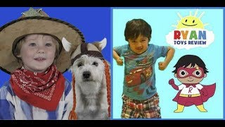 "Jax & Sparky have a dance-off to Ryan's ToysReview video ""I Have Two Hands"""