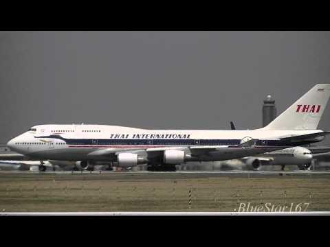 [Retro livery] Thai Airways International Boeing 747-400 (HS-TGP) takeoff from NRT/RJAA RWY 34L