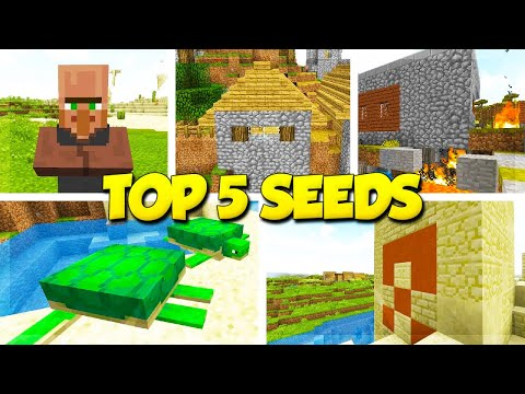 5 VILLAGE SEEDS for MINECRAFT 1.13.1! (Minecraft Update Aquatic Seeds)