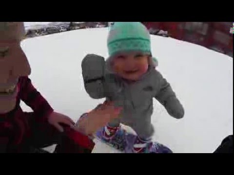 Sloan's First Time On The Slopes!