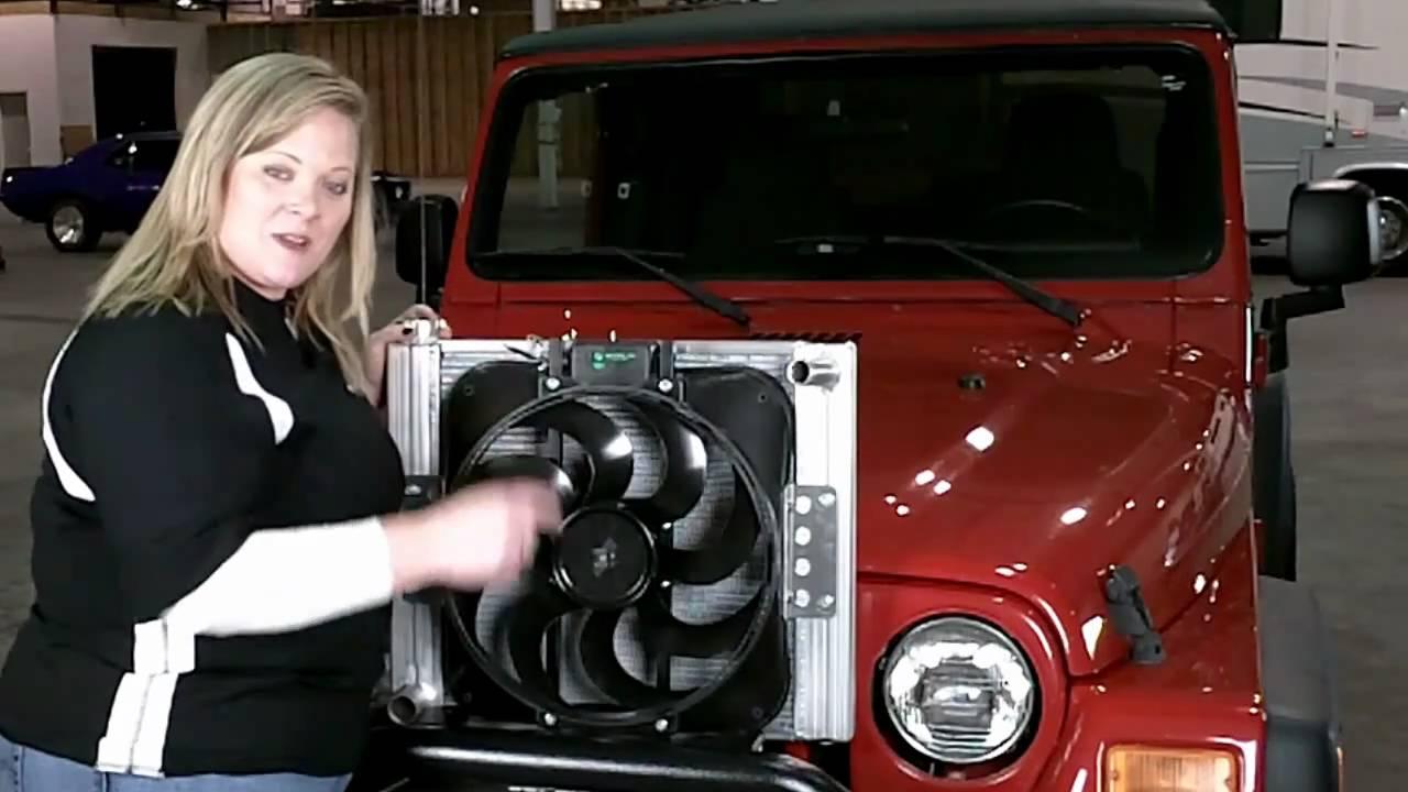 Flex A Lite 60187 Jeep 87 06 Wrangler Radiator Fan Combo