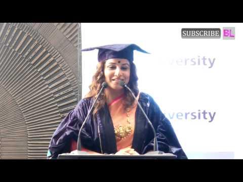 Vidya Balan | Honoured with Doctor of Arts Honoris Causa Degree | Part 1