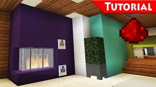 Easy Working Fireplace / Minecraft / Redstone - Tutorial / For Modern House / how to make