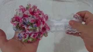 El paso a paso de diadema con encaje y flores/ how to make headband with lace and flowers