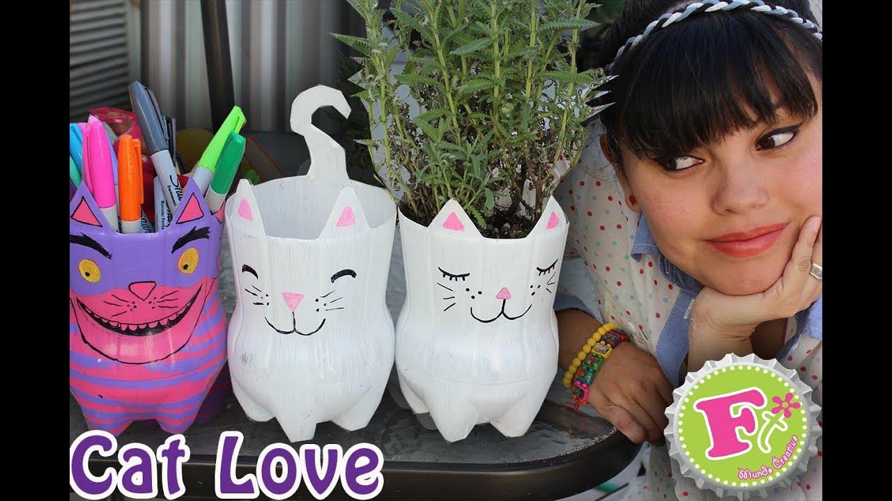 Cat lover maceta y o portalapices ecol gicos floritere - Macetas de pared ...