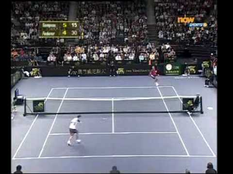 Pete Sampras beats Roger Federer Video