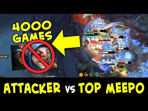TOP-10 Meepo wasn't ready for BEST Kunkka — Attacker vs 4000 games Meepo