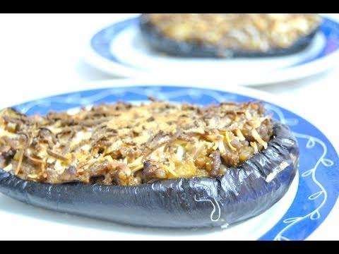 Berenjena rellena de carne - Recetas de cocina RECETASonline