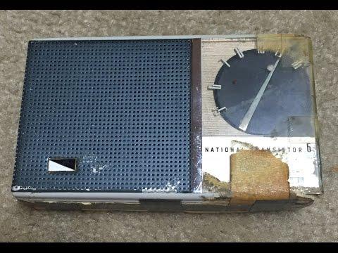 1958 National EB-165 transistor radio (made in Japan, destroyed in USA)