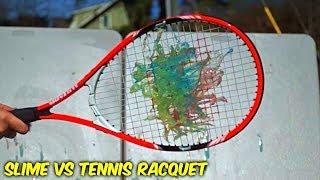 Slime vs Tennis Racquet - Slow Motion