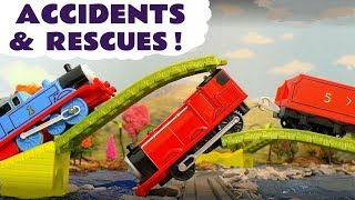 Thomas and Friends Toy Train Accidents & Rescue Fun Stories with Paw Patrol and Surprise Eggs TT4U